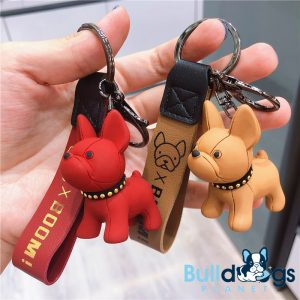 Adorable Frenchie Keychain with Strap