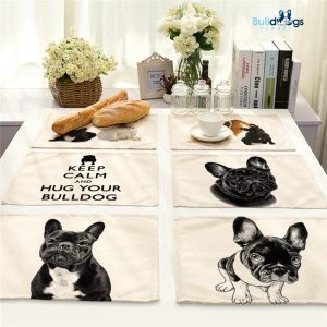 French Bulldog Dog Placemat Dining Table Mat