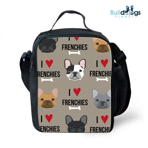 Thermal Insulated French Bulldog Cute Printing Lunch Bag